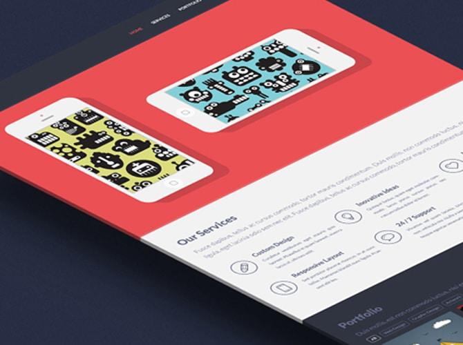 Singolo App Website Design Template Free PSD
