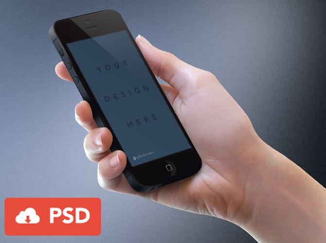 iPhone Mockup Free PSD