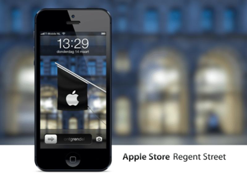 Apple Store Regent Street, London iPhone Wallpaper