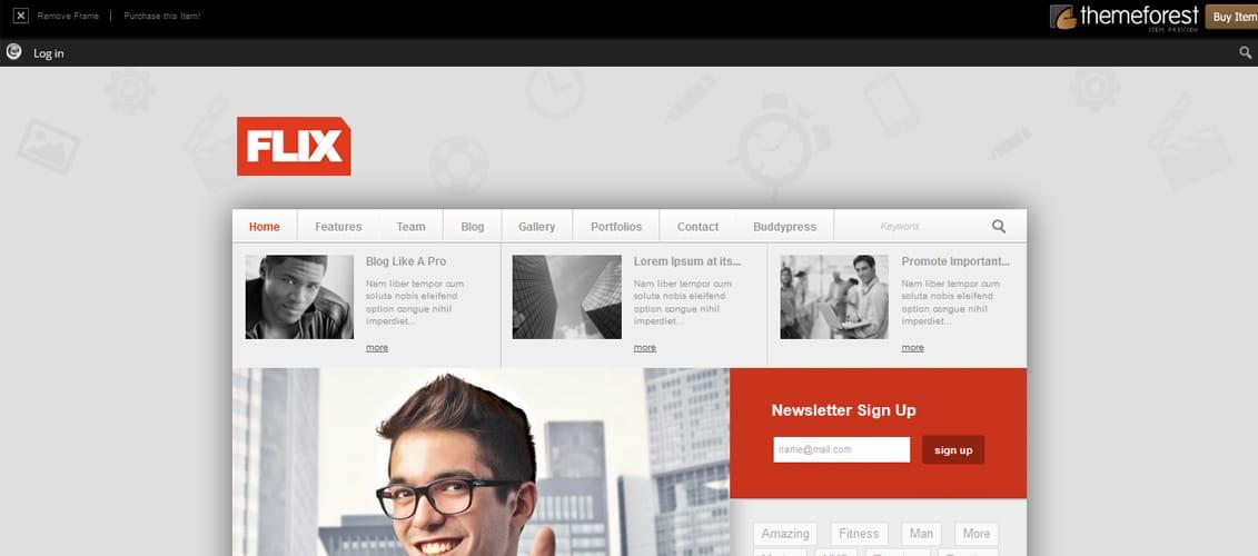 Flix BuddyPress Ready Team Blogging