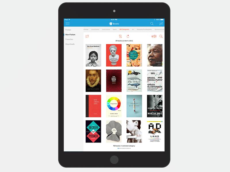 Library app design concept