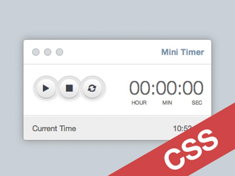 Mini Timer CSS