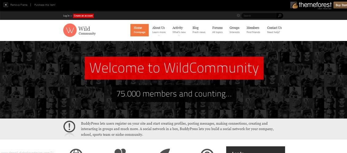 WildCommunity - BuddyPress Theme