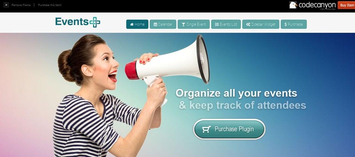 WordPress Events Registration Calendar Plugin