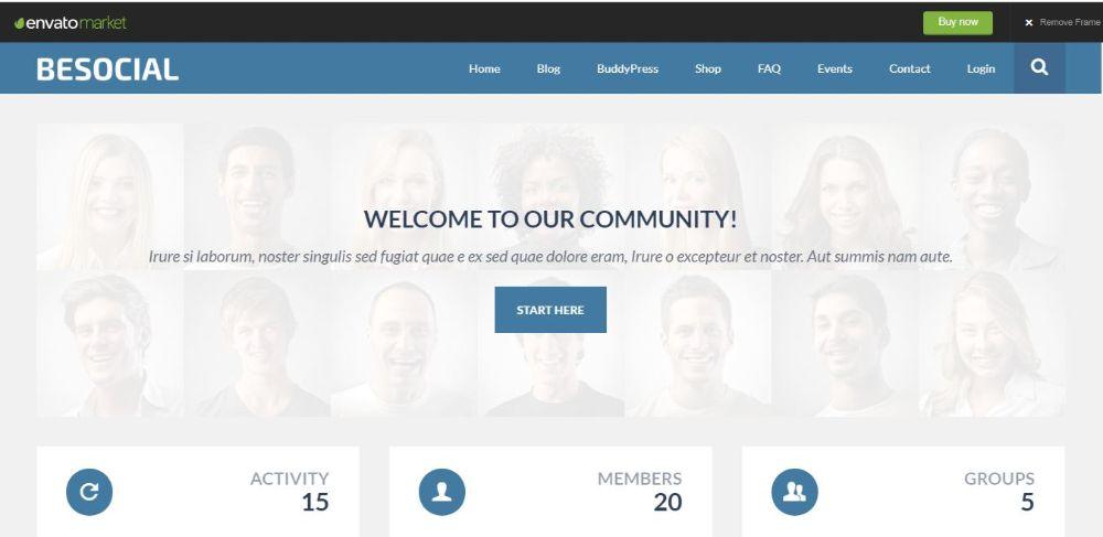 Besocial- BuddyPress Social Network & Community WordPress Theme