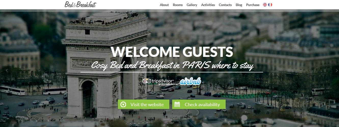 Bed&Breakfast Single Page WordPress Theme