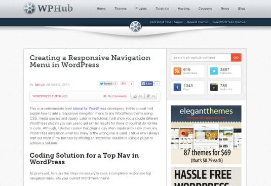 Creating a responsive navigation menu in WordPress