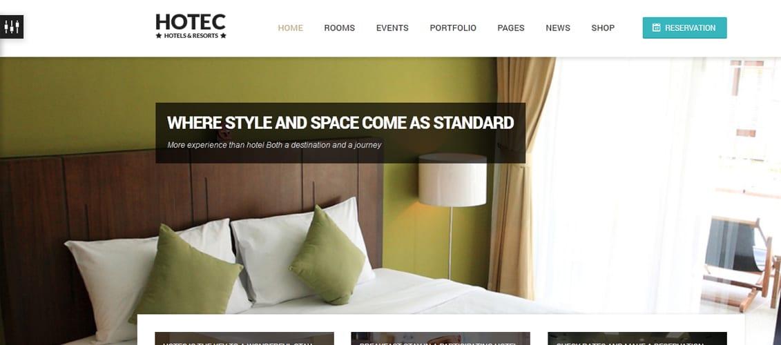 Hotec Responsive Hotel Spa & Resort WP Theme
