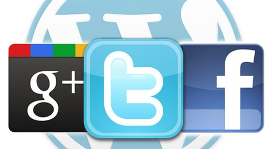 Integrate Facebook, Twitter and Google+ in WordPress