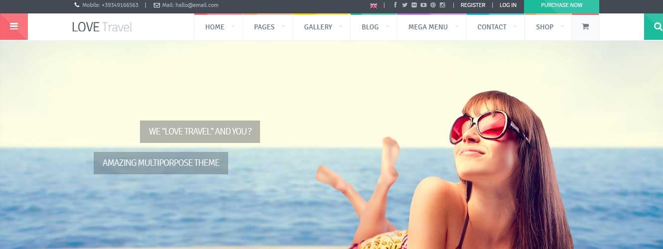 Love Travel - Creative Travel Agency WordPress