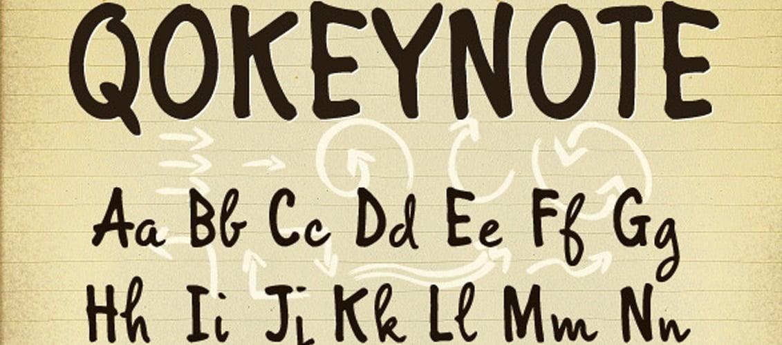 Qokeynote Handwritten Casual Lettering Font