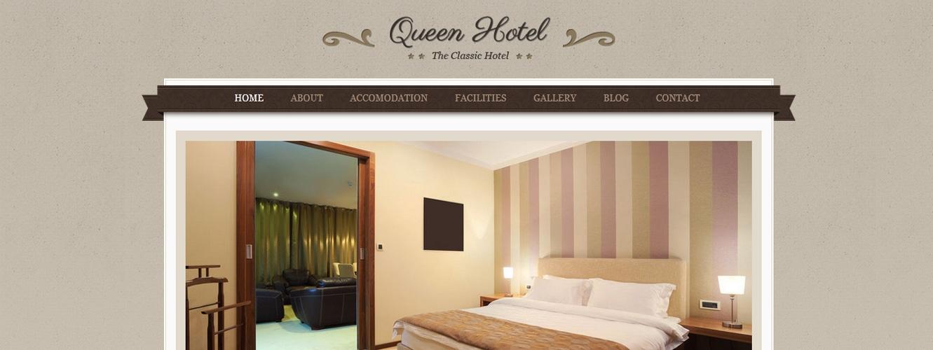 Queen Hotel Classic and Elegant WordPress Theme