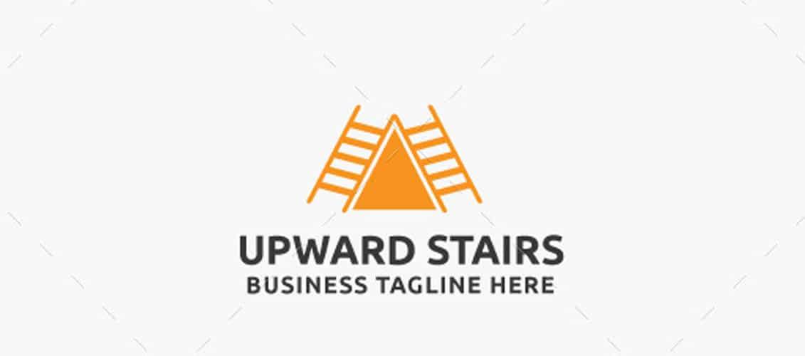 Upward Stairs Logo Template