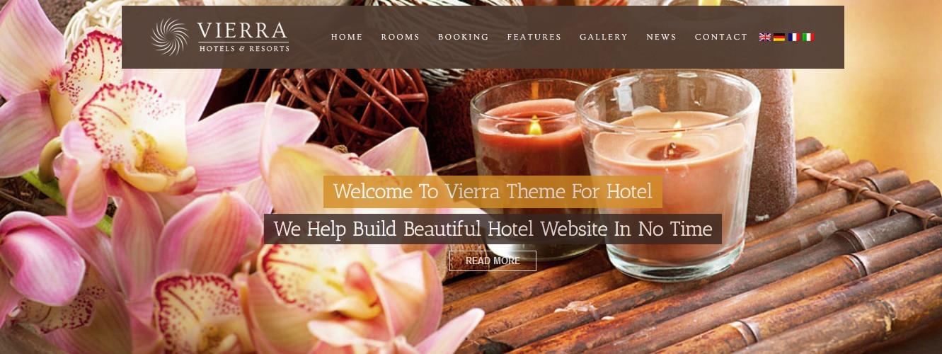 Vierra - Responsive Hotel WordPress Theme