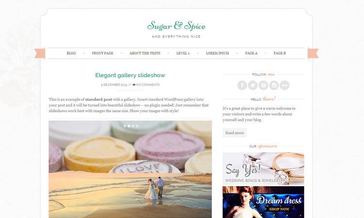 Sugar and Spice (Feminine blogging theme)
