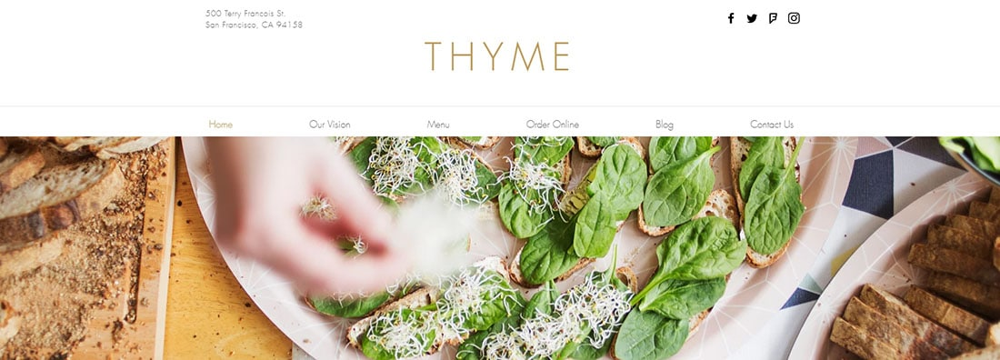 Vegetarian Restaurant Website Templates