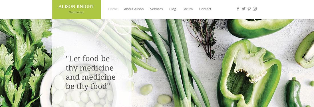 Dietitian Website Template