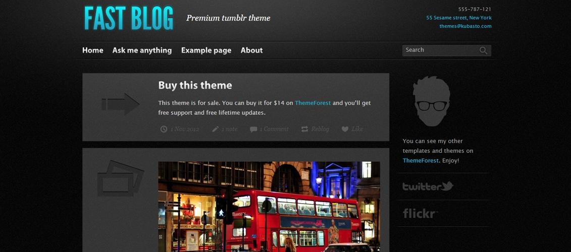 Fast Blog - tumblr theme