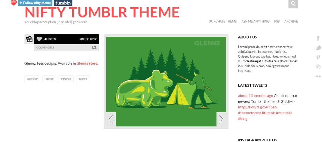 NIFTY - Clean Tumblr Theme