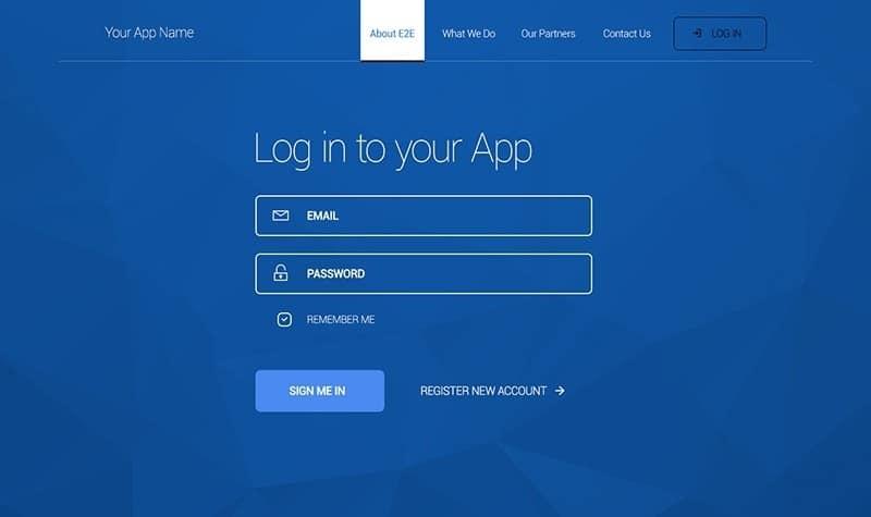 Login Screen Form Free PSD