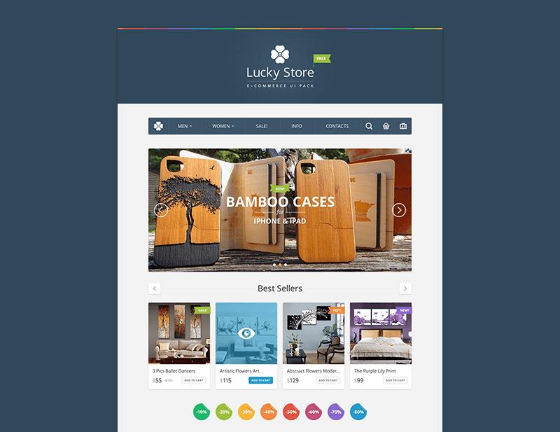 Lucky Store UI Kit Free PSD