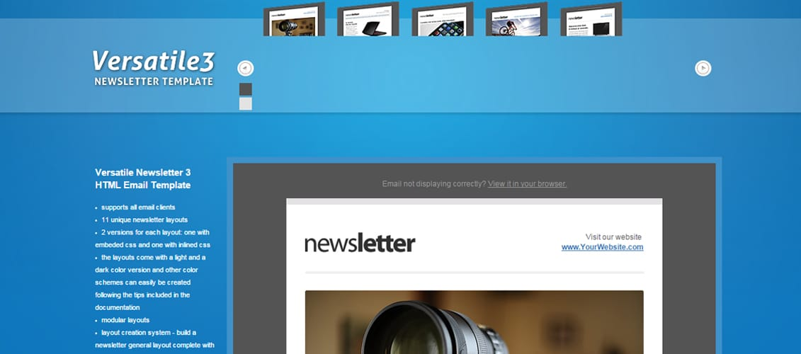 20 Feature-Rich Premium Newsletter Templates