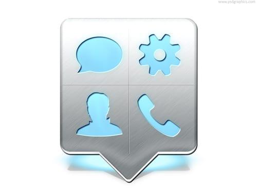 Cellphone menu pointer (PSD)