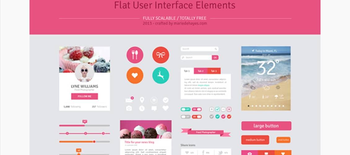 Freebie Flat Design User Interface Elements