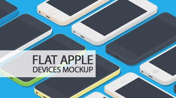 High Qutliay Flat Apple Devices Mockup