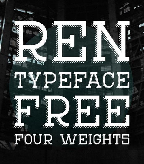 REN Typeface Font