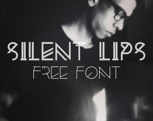Silent Lips Free Font