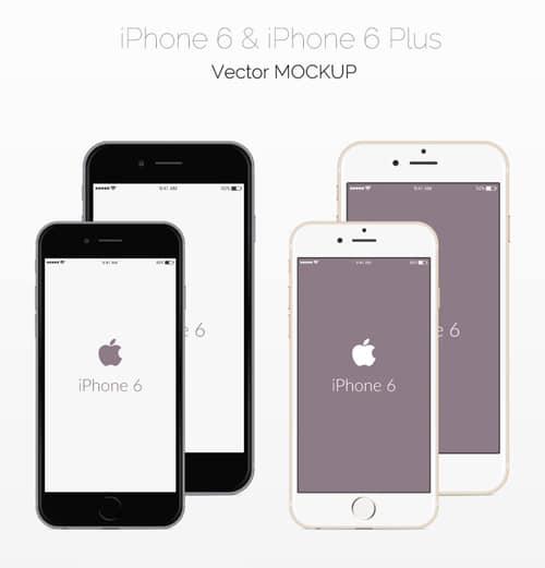 Vector iPhone 6 Mockup