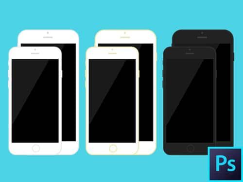 iPhone 6s iPhone 6 Plus Flat PSD Template