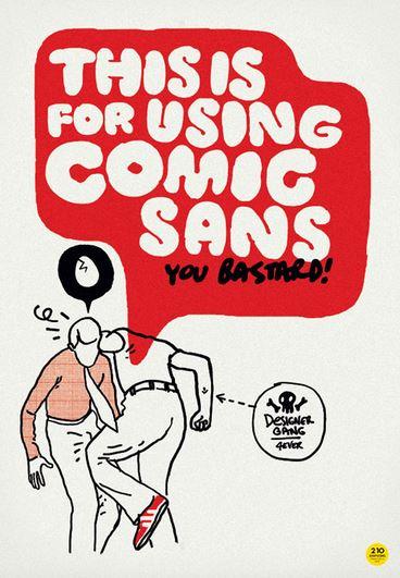 Stop using Comic Sans