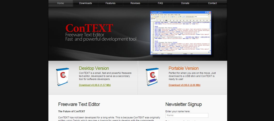 ConTEXT Free Code Editing Tool