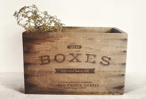 Vintage Boxes MockUp