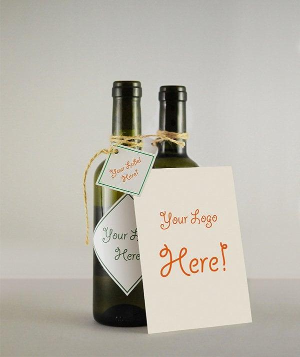 Wine Bottle & Greeting Card MockUp