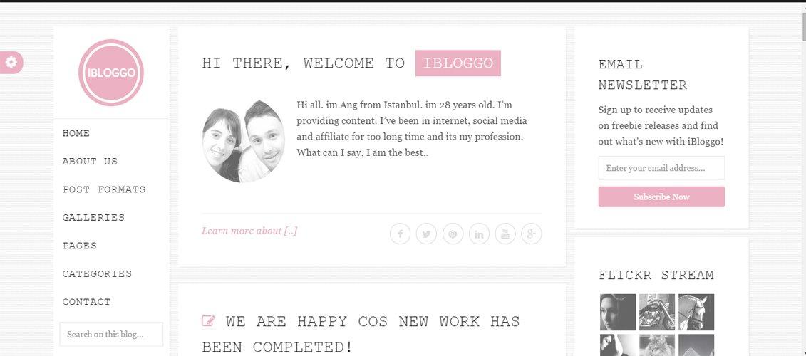 iBloggo - Minimal HTML Personal Blog Template