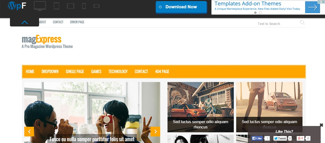 magExpress - Html5 Bootstrap Magazine Template