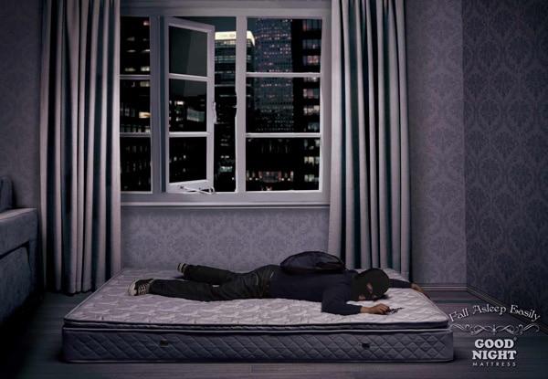 creative ads mattress
