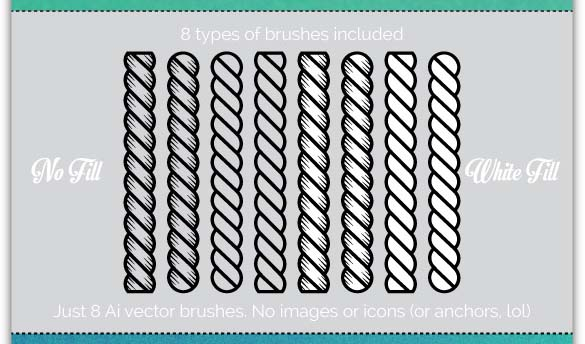8 Nautical Rope Brushes
