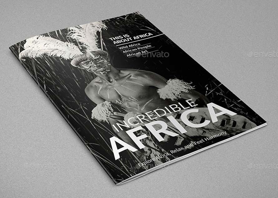 A4 Wild Magazine Template