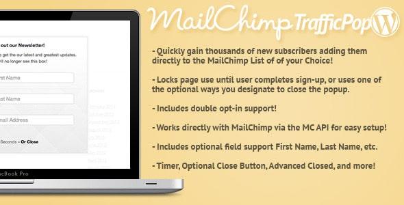 Mail Chimp Traffic Pop for WordPress