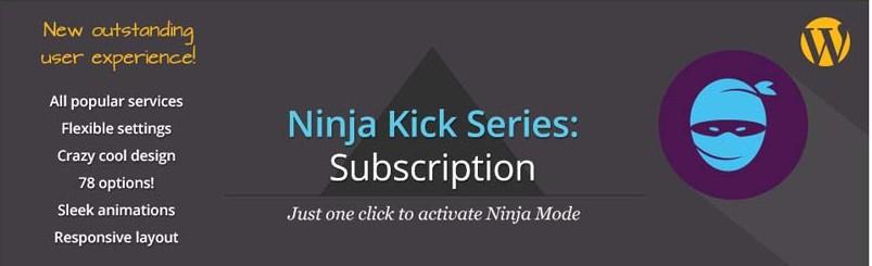 Ninja Kick Subscription WordPress Plugin