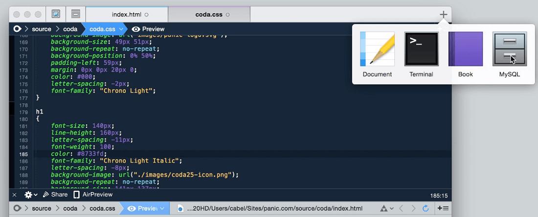 Coda free code editor