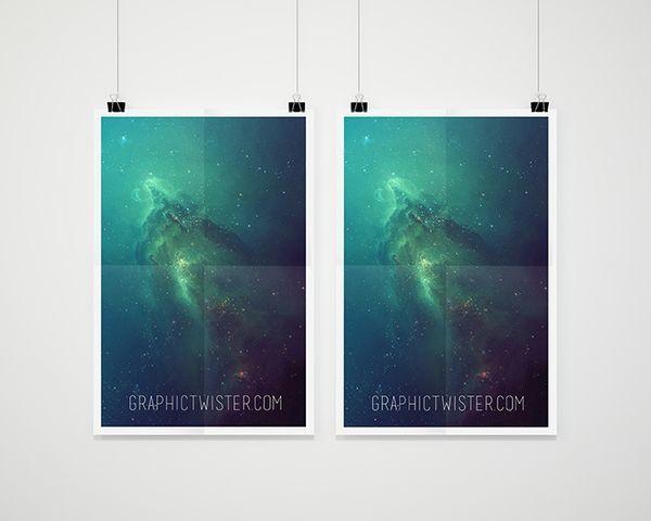 Double Psd Poster Mockup Presentation