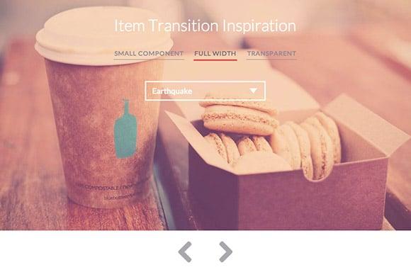 Item transitions inspiration