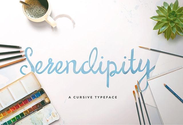Serendipity Script free font