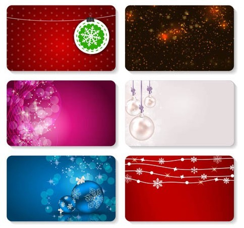 Christmas Card Templates Vector