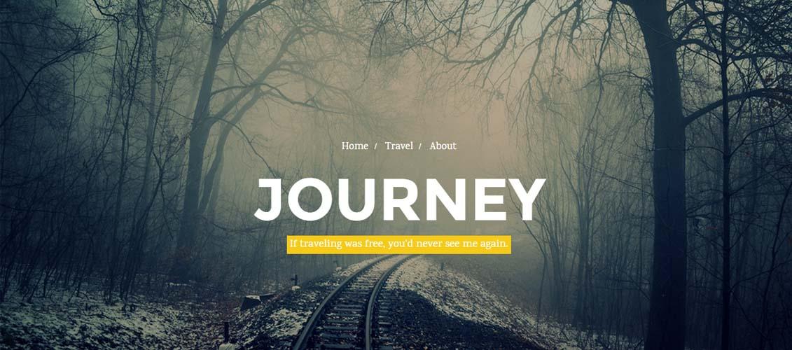 Journey - Responsive Ghost Theme